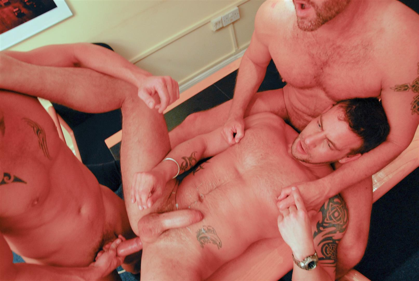 AlphaMales-Kurt-Rogers-and-Jake-Ryder-and-Matthew-Ford-Bareback-Threesome-Amateur-Gay-Porn-23 Three Office Hunks In Suits With Big Uncut Cocks Bareback Fucking In The Workplace