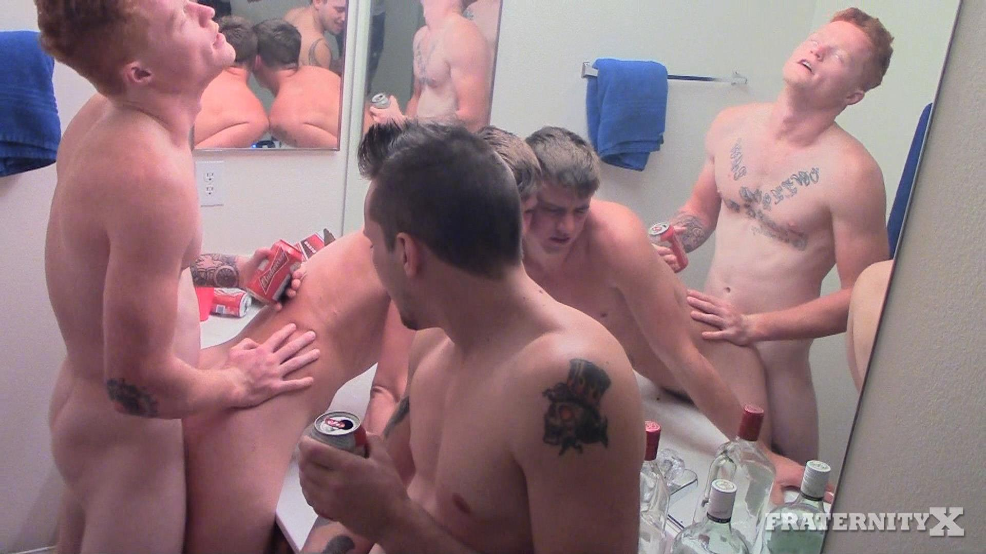 Fraternity X College Guys Bareback Sex Party Amateur Gay Porn 03 College Frat Boy Gets Bareback Fucked In The Shower