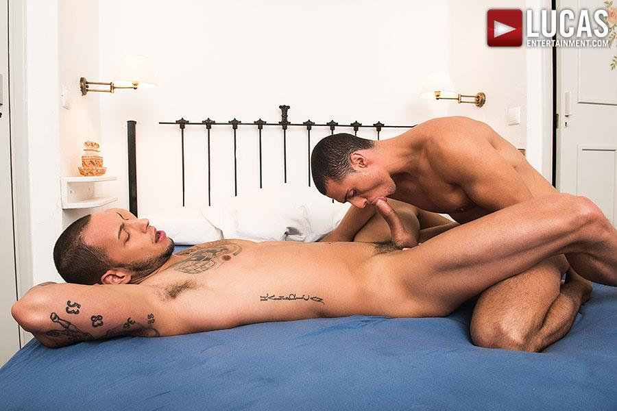 Lucas-Entertainment-Giovanni-Matrix-and-Javi-Velaro-Bareback-Breeding-Amateur-Gay-Porn-07 Tatted Giovanni Matrix Breeds Javi Velaro With His Big Uncut Cock