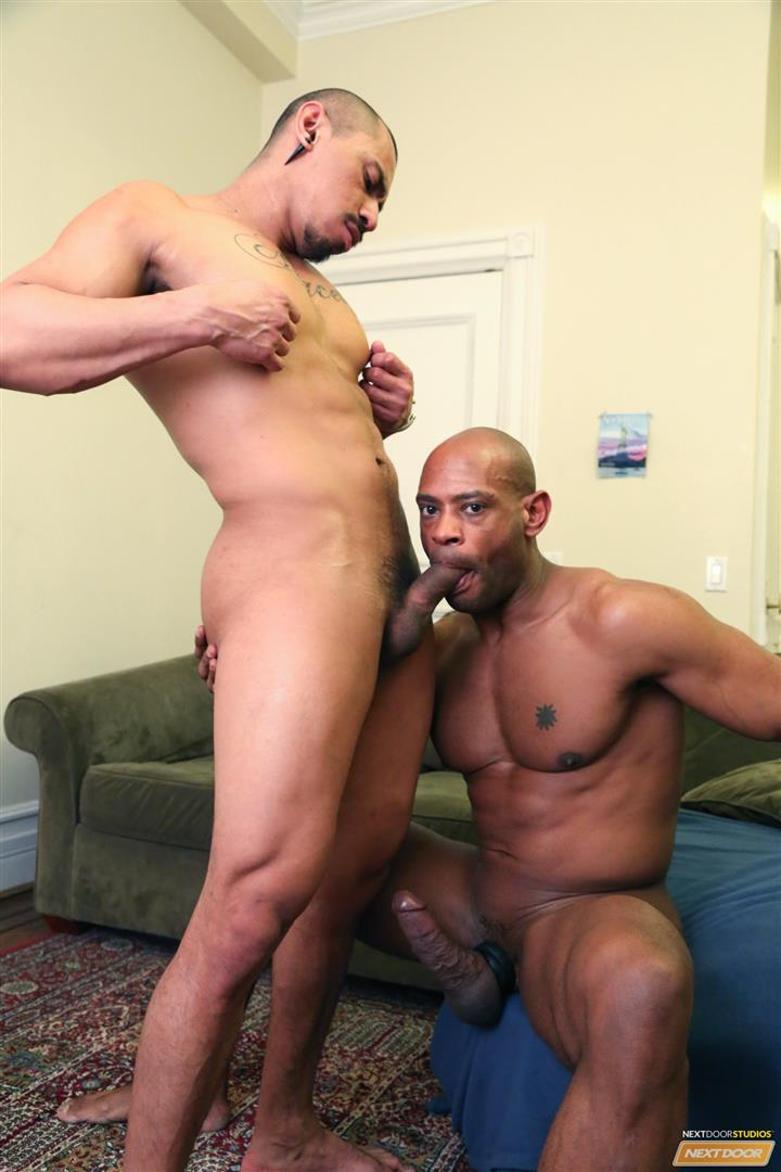 Next-Door-Ebony-Marlone-Starr-and-Romero-Santos-Big-Black-Dick-Fucking-Latino-Amateur-Gay-Porn-11 Marlone Starr Fucks Boyfriend Romero Santos With His Big Black Dick