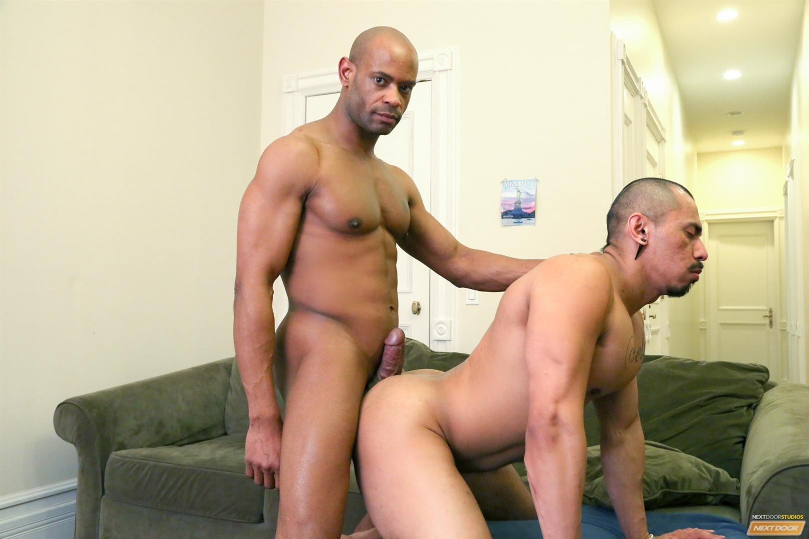 Next Door Ebony Marlone Starr and Romero Santos Big Black Dick Fucking Latino Amateur Gay Porn 13 Marlone Starr Fucks Boyfriend Romero Santos With His Big Black Dick